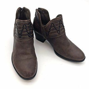 Earth Leather Ankle Boots Shoes Zip 6 Women Heels